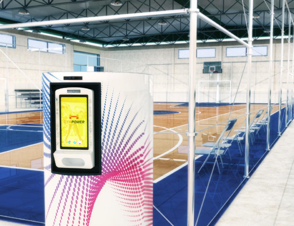 Luft filtern Sporthalle